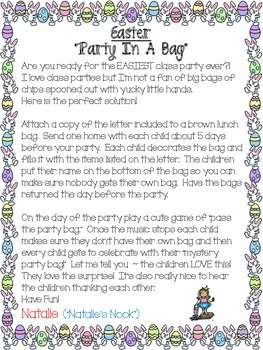 """Easter """"Party In A  Bag"""""""