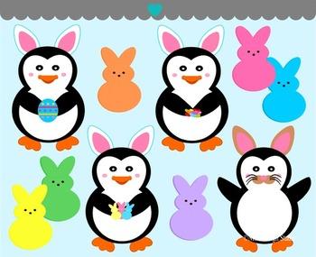Easter Penguin Clip Art