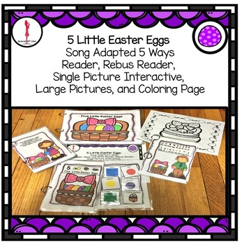 Easter Poem Interactive 5 Little Easter Eggs, Circle Time Fun