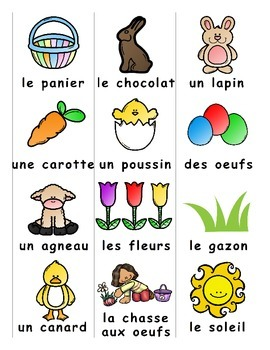 Easter / Pâques FRENCH Games