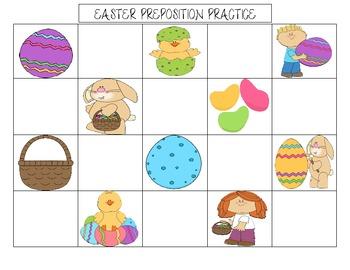 Easter Preposition Practice- FREEBIE