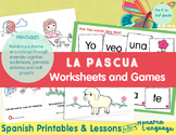 Easter Activities in Spanish (math, letters, vocabulary an