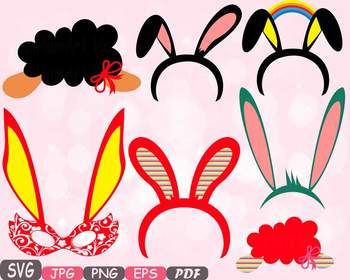 Easter Props Props Photo Booth clipart Party Happy Easter
