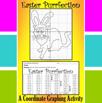 Easter Purrfection - A Coordinate Graphing Activity