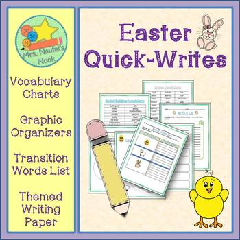 Easter Writing Activities - Graphic Organizers, Poetry, Pa