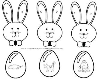 Easter Rabbit Beginning Sounds
