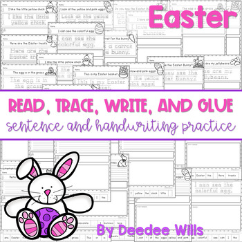 Easter Read, Trace, Glue, and Draw