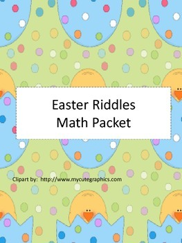 Easter Riddles:  Math Practice Packet