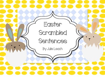 Spring Scrambled Sentences - Morning Learning - Centers