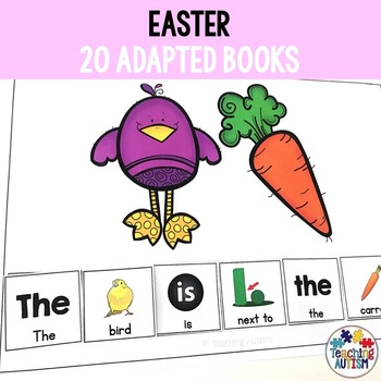 Easter Sentence Building Pack, Adapted Books