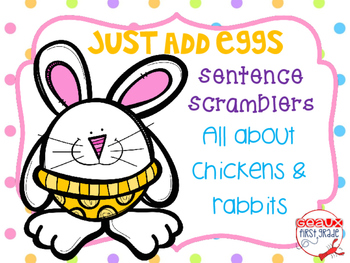 Easter Sentence Scrambles-Just add eggs
