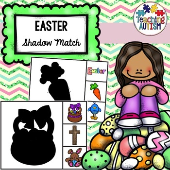 Easter Shadow Matching Task Cards