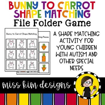 Easter Shape Match File Folder Game for Early Childhood Sp