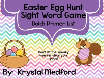 Easter Sight Word Game (Primer List)