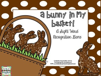 Easter Sight Words!  A Bunny In My Basket EDITABLE Sight W