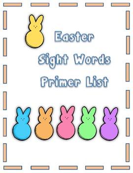 Easter Sight Words Primer Flashcards