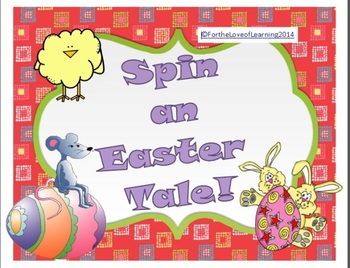 Easter Spin A Tale - Creative Writing Literacy Centre Game