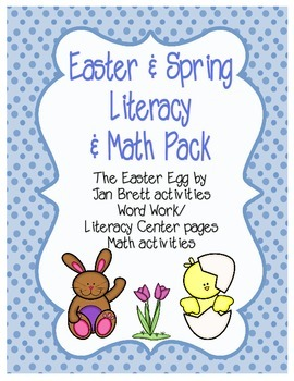 Easter / Spring Literacy & Math Pack and The Easter Egg cr