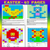 Mystery Pictures - Easter Activities - Math Centers