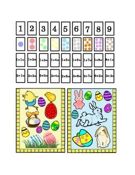 Easter Spring Number Recognition Kindergarten Addition Art