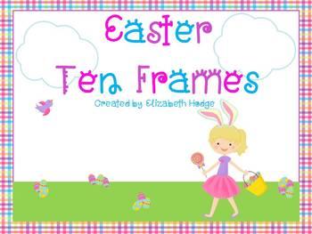 Easter/ Spring Ten Frames- (1-20)