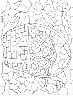 Easter Stained Glass Coloring Page