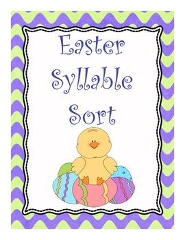 Easter Syllable Sort
