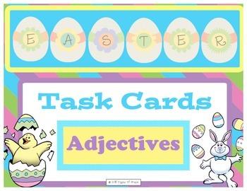 Easter Task Cards-Adjectives