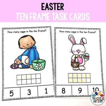 Easter Ten Frame Task Cards