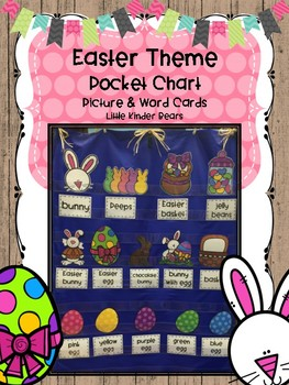 Easter Theme Pocket Chart Picture and Word Cards