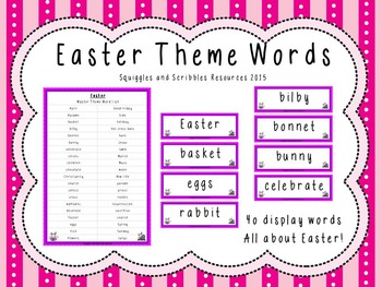 Easter Theme Words