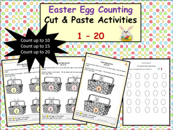 Easter-Themed Counting 1 to 10, 15 and then up to 20 - Cut