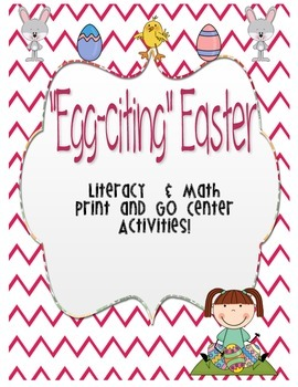 Easter-Literacy and Math Centers Print and GO