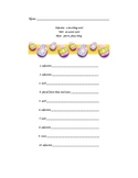 Easter Themed Madlib - Adjectives, Nouns, Verbs
