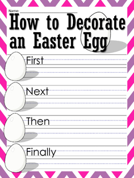Easter Themed Writing Prompts and Worksheets