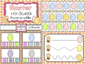 Easter Literary and Math - Early Learning Activities for T
