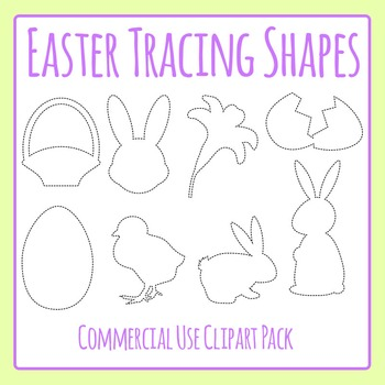 Easter Tracing Shapes for Fine Motor Control or to Cut Out