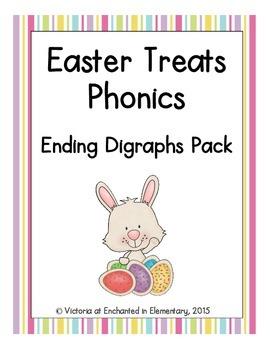 Easter Treats Phonics: Ending Digraphs Pack