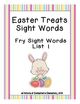 Easter Treats Sight Words! Fry List 1