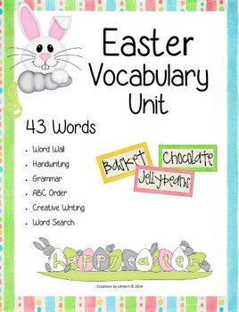 Easter Vocabulary Activities (1st - 3rd Grades)