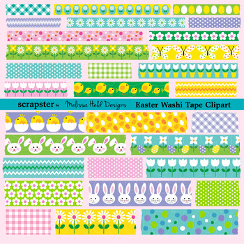 Easter Washi Tape Clipart