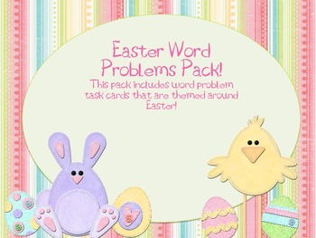 Easter Word Problem Task Cards Pack