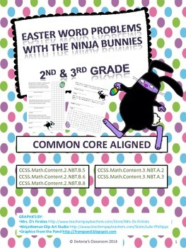 Easter / Spring Math Problems - Ninja Bunnies: Common Core