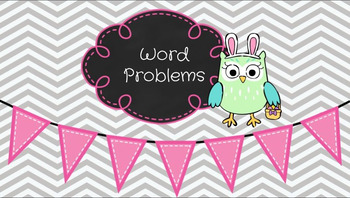 Easter Word Problems using CUBE Google Slides