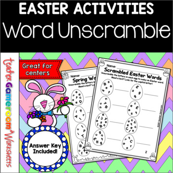Easter Word Unscramble
