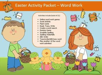 Easter Word Work Packet – 20 words, no prep spelling packe