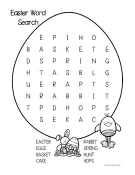 Easter Wordsearch Freebie