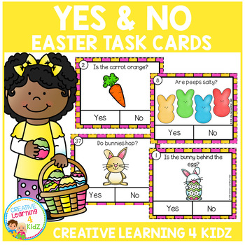 Yes & No Easter Picture Question Task Cards