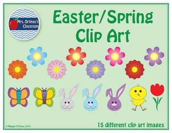 Easter and Spring Clip Art Images (Set of 59)