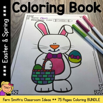 Coloring Pages for Easter and Spring Bundle